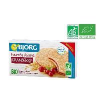 Biscuits Secs BJORG Biscuits fourres flocons d'avoine et cranberry 175 g