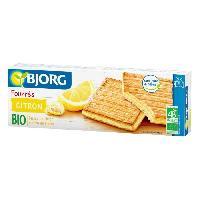 Biscuits Secs BJORG Fourres Citron Bio 225g