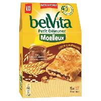 Biscuits Secs Belvita moelleux coeur gourmand chocolat noisettes 250G - Aucune