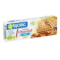 Biscuits Secs Bjorg  Fourrés Chocolat Noir 225g