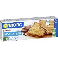 Biscuits Secs Bjorg Fourrés Chocolat au Lait 225g - Aucune