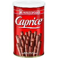 Biscuits Secs CAPRICE Gaufrettes Fourrees de Chocolat Praline - 115 g - Generique