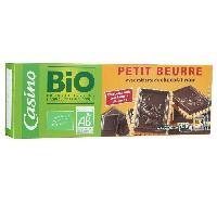 Biscuits Secs CASINO BIO Petit Beurre au Chocolat Noir 150g