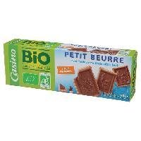 Biscuits Secs CASINO Petit Beurre Chocolat au lait BIO