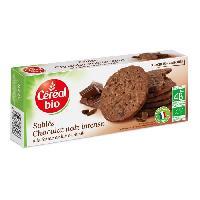 Biscuits Secs CEREAL BIO Biscuits sables au chocolat noir intense Bio - 132 g