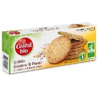 Biscuits Secs CEREAL BIO Sables au sesame et pavot Bio - 132 g