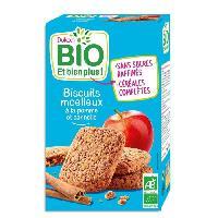 Biscuits Secs DUKAN Biscuits moelleux Bio a la pomme et cannelle - 150 g