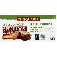 Biscuits Secs ETHIQUABLE Speculoos au sucre complet de canne - 125 g
