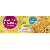 Biscuits Secs GAYELORD HAUSER Petit Nature Sans Sucres - 156 g