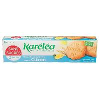 Biscuits Secs KARELEA Biscuits craquants saveur citron - Sans sucre - 132 g - Generique
