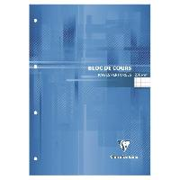 Bloc Note - Bloc De Feuilles CLAIREFONTAINE Bloc de cours - 210 x 297 mm - 200 pages perforées 4 trous - Seyes papier PEFC 90 g - Couverture vernie