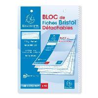Bloc Note - Bloc De Feuilles EXACOMPTA Bloc 40 fiches bristol blanches perforées 148 x 210 mm - 5 x 5 PEFC 205 g - Couverture enveloppée Carte 240 g