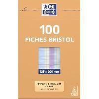 Bloc Note - Bloc De Feuilles OXFORD 100 feuilles bristol - Petits carreaux - 20 cm x 12.5 cm x 2.6 cm