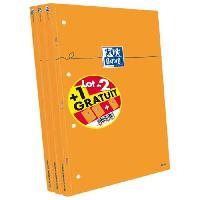 Bloc Note - Bloc De Feuilles OXFORD 3 blocs-notes agrafés et perforés - 21 x 31.5 cm - 160p - 80g - 5x5 - Orange