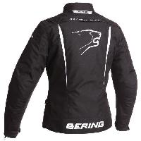 Blouson - Veste - Maillot - T-shirt - Gilet Airbaig BERING Blouson Moto Lady Katniss Noir et Blanc - T4=44