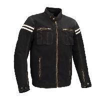 Blouson - Veste - Maillot - T-shirt - Gilet Airbaig BERING Blouson de moto Keaton - Noir - M=46-48