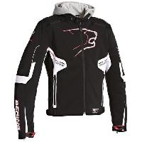 Blouson - Veste - Maillot - T-shirt - Gilet Airbaig BERING Coaster Blouson Moto Textile Noir Blanc et Rouge - XXL