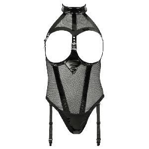 Body Body noir vinyle bonnets ouverts - Taille XXL