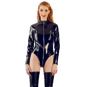 Body Body vinyle noir manches longues - Taille L