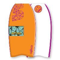 """Bodyboard SURF & SUN Bodyboard Similar EPS 39"""" - Rose et jaune fluo - Surf N Sun"""