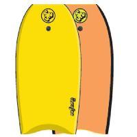 """Bodyboard SURF & SUN Bodyboard Similar EPS 42"""" - Jaune et orange fluo - Surf N Sun"""