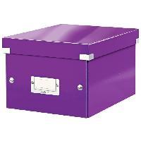 Boite - Mallette De Rangement - De Transport Boite de Rangement Click et Store A5 Violet