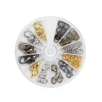 Boite - Mallette De Rangement - De Transport Boite de fermoirs bijoux - En metal - Diametre 13 a 19 mm