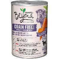 Boite - Patee - Nourriture Humide - Molle BEYOND Nourriture riche en boeuf Grain Free - Pour chien - 400 g