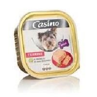 Boite - Patee - Nourriture Humide - Molle CASINO Barquette de terrine a l'agneau et légumes - 300 g - Pour chien adulte