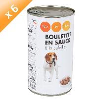 Boite - Patee - Nourriture Humide - Molle CASINO Boulettes en sauce a la volaille - 1240 g - Pour chien