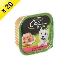 Boite - Patee - Nourriture Humide - Molle CESAR Barquette en terrine au veau et aux carottes - Pour chien adulte - 300 g -x20-