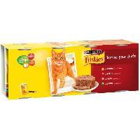 Boite - Patee - Nourriture Humide - Molle FRISKIES Terrine aux viandes et légumes - Pour chat adulte - 4 x 400 g