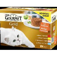 Boite - Patee - Nourriture Humide - Molle GOLD Patee Les timbales - Pour chat - 12x85g