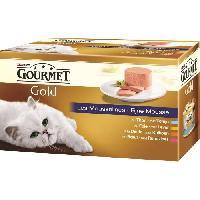 Boite - Patee - Nourriture Humide - Molle GOURMET Gold Les Mousselines - Pour chat adulte - 4 x 85 g