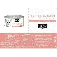 Boite - Patee - Nourriture Humide - Molle KIT CAT Poulet et Saumon - Pour chat - Boîte de 24 conserves - 80 g - Aucune