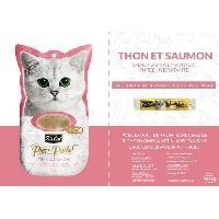 Boite - Patee - Nourriture Humide - Molle KIT CAT Thon et Saumon PurrPurée - Pour chat - 4 x 15 g - Aucune