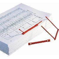 Boite A Archive 100 relieurs - PP - 6 cm - Rouge