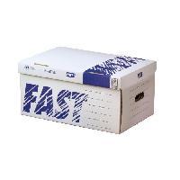 Boite A Archive 5 containers pour boites d'archives avec couvercle - Manuelle - Blanc