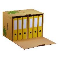 Boite A Archive Container pour 6 classeurs a levier avec couvercle Nature line - Ecru
