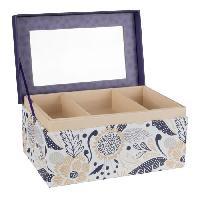 Boite A Bijoux Boite a bijoux rectangle - Carton - 18.5 x 12 cm - Violet - Generique