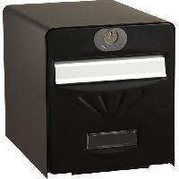 Boite Aux Lettres BURG WACHTER Boîte aux lettres Balnéaire en acier galvanisé - 2 portes - Noir