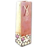 Boite Cadeau Pochette a bouteille Bouchons roses - Class Wine