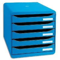 Boite De Classement EXACOMPTA Module de classement Big Box - 5 tiroirs - Bleu glacé punchy