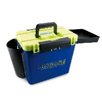 Boite De Peche - Boite De Rangement Boite banc Super Box - Bleu. jaune et noir