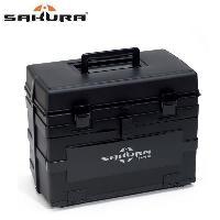 Boite De Peche - Boite De Rangement SAKURA Boîte multirangement pour la peche Sk-9810 - Noir fumé