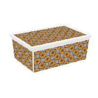 Boite De Rangement - Bac De Rangement ABM Boîte de rangement C box Style - 18 L - Décor Wax - Marron et bleu