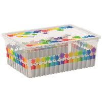 Boite De Rangement - Bac De Rangement C BOX STYLE Boite de rangement pour enfant Colours Arty - 11 L - 37 x 26 x 14 cm