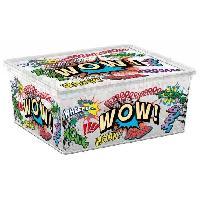 Boite De Rangement - Bac De Rangement C BOX STYLE Boite de rangement pour enfant Comics - 18 L - 40 x 34 x 17 cm - Blanc et multicolore
