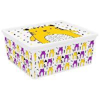 Boite De Rangement - Bac De Rangement C BOX STYLE Boite de rangement pour enfant Hipster - 18 L - 40 x 34 x 17 cm - Jaune
