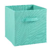 Boite De Rangement - Bac De Rangement COMPO Tiroir de rangement - Tissu - 27 x 27 x 28 cm - Bleu turquoise